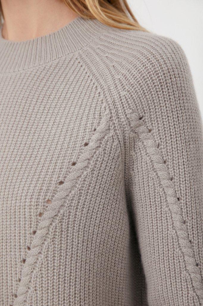 Женский джемпер прямого кроя из шерсти и кашемира, Модель FAB11196, Фото №5