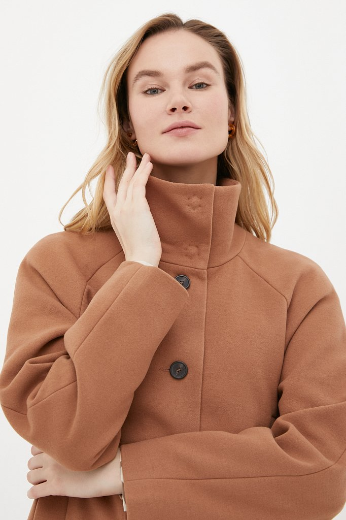 Драповое женское пальто, Модель FAB110209, Фото №5