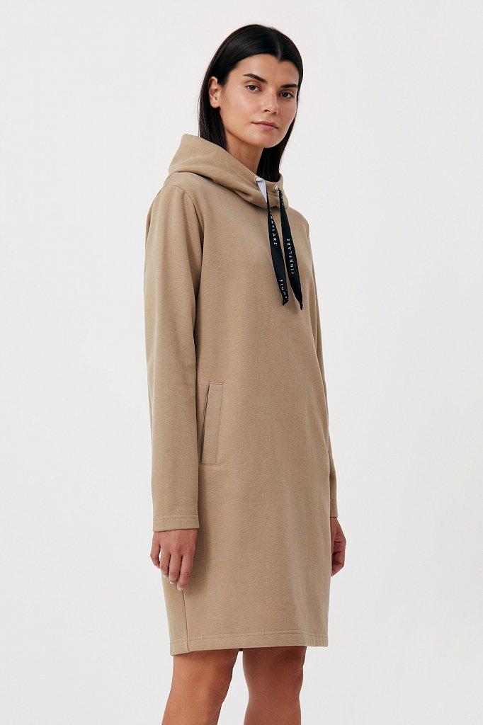 Свободное платье в спортивном стиле с капюшоном, Модель FAB110210, Фото №3