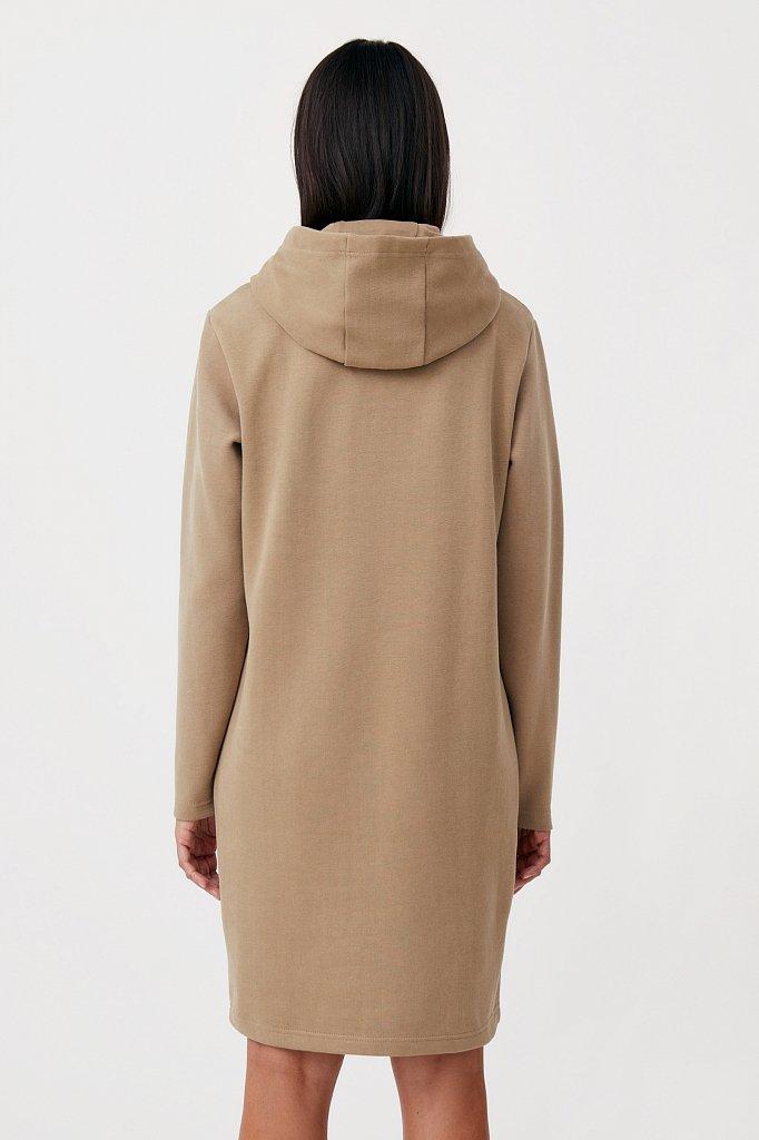 Свободное платье в спортивном стиле с капюшоном, Модель FAB110210, Фото №4
