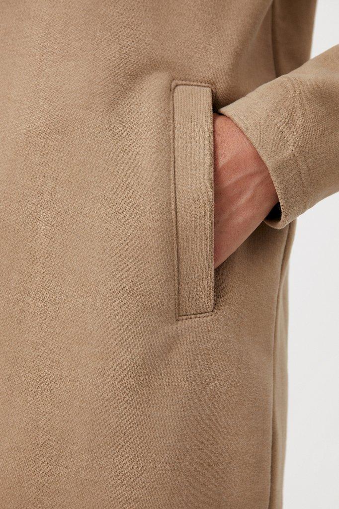 Свободное платье в спортивном стиле с капюшоном, Модель FAB110210, Фото №5