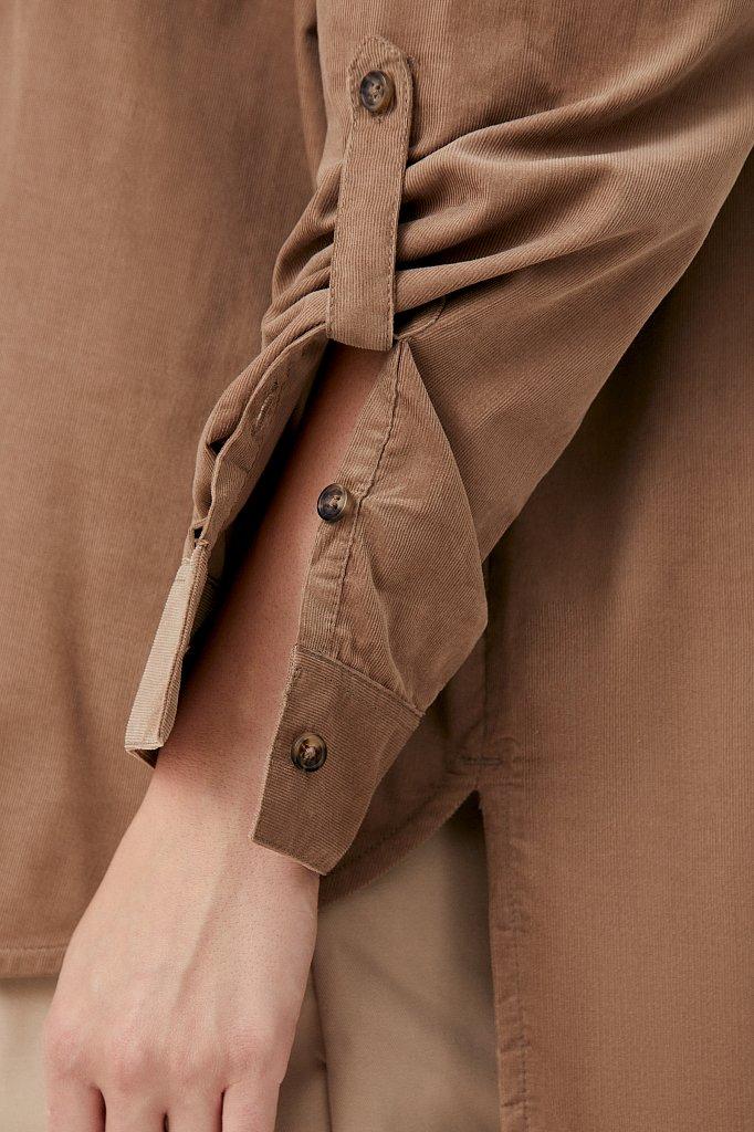 Вельветовая женская рубашка оверсайз с карманами, Модель FAB11047, Фото №6