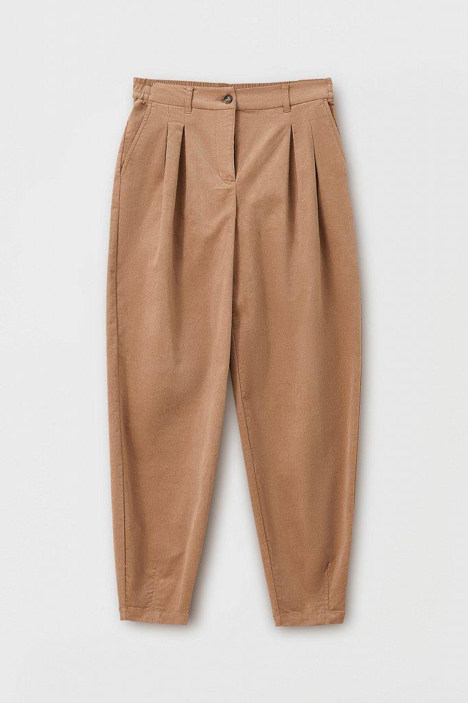 Вельветовые брюки женские кроя багги, Модель FAB11049, Фото №6
