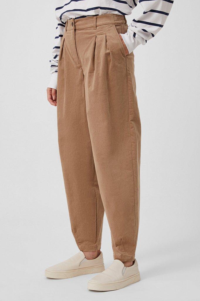 Вельветовые брюки женские кроя багги, Модель FAB11049, Фото №3