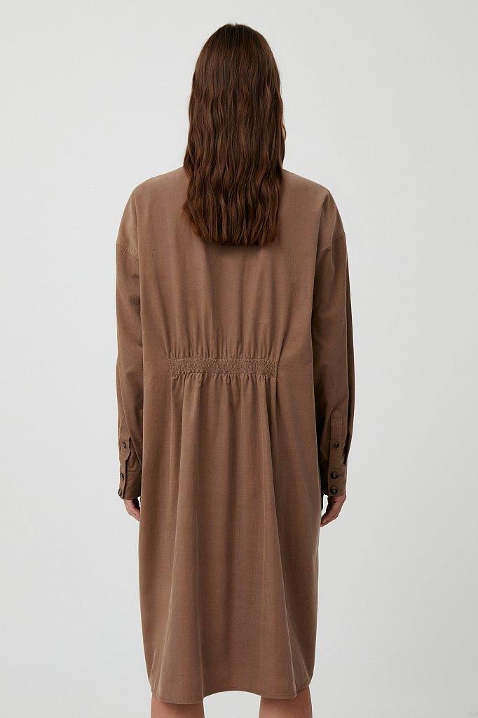 Вельветовое женское платье-рубашка оверсайз, Модель FAB11050, Фото №4