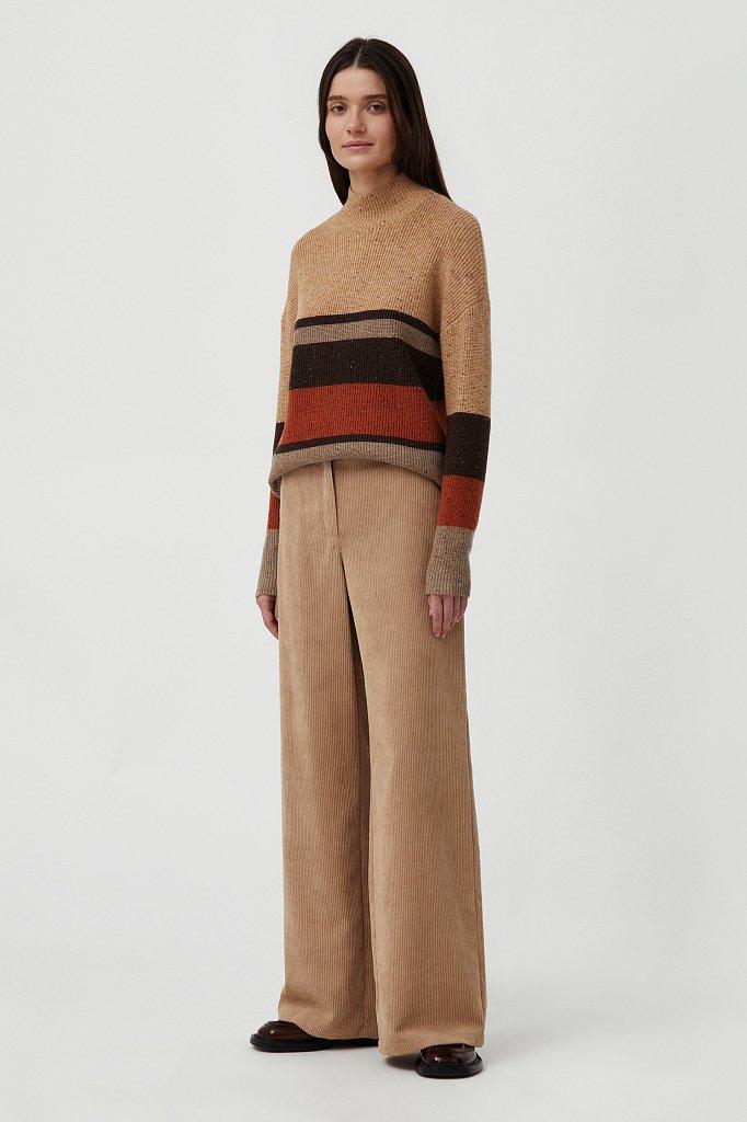 Свободные женские брюки wide leg из вельвета, Модель FAB11056, Фото №1