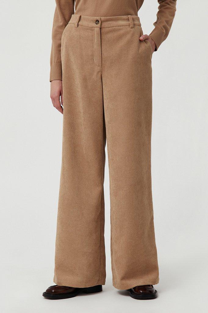 Свободные женские брюки wide leg из вельвета, Модель FAB11056, Фото №2