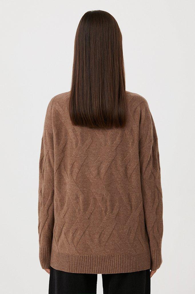 Женский джемпер прямого кроя из шерсти и кашемира, Модель FAB11165, Фото №4
