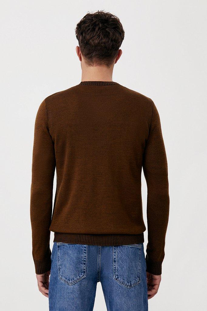 Пуловер мужской прямого силуэта с шерстью, Модель FAB21103, Фото №4