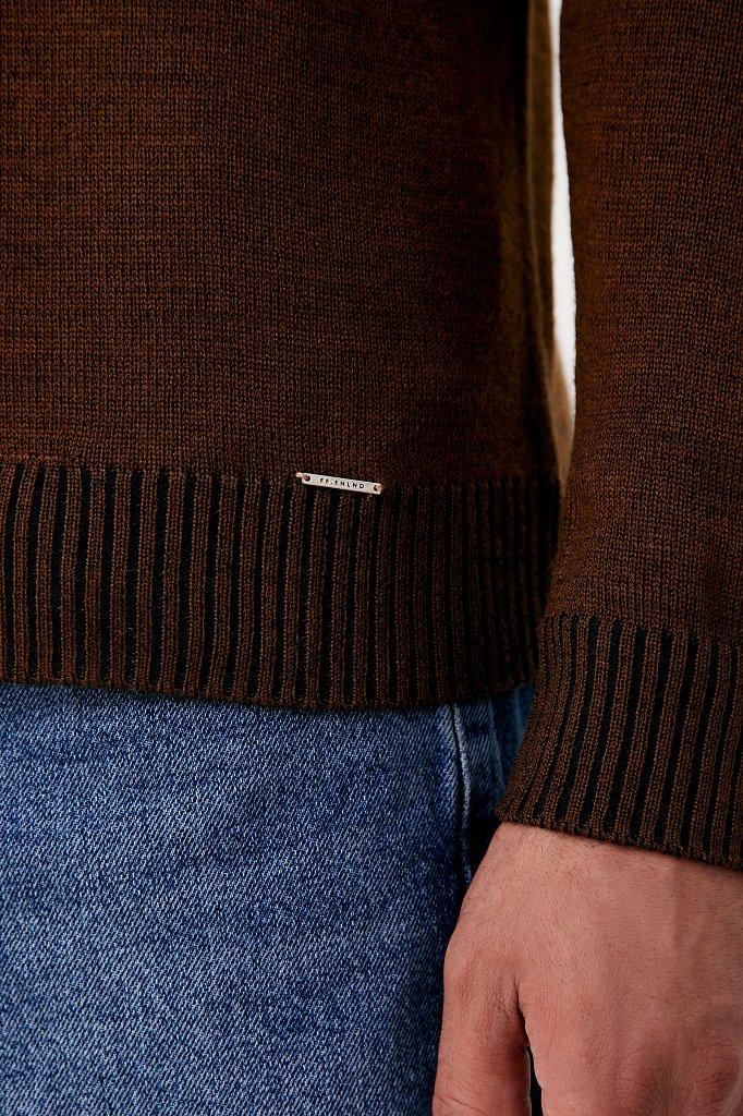 Пуловер мужской прямого силуэта с шерстью, Модель FAB21103, Фото №5