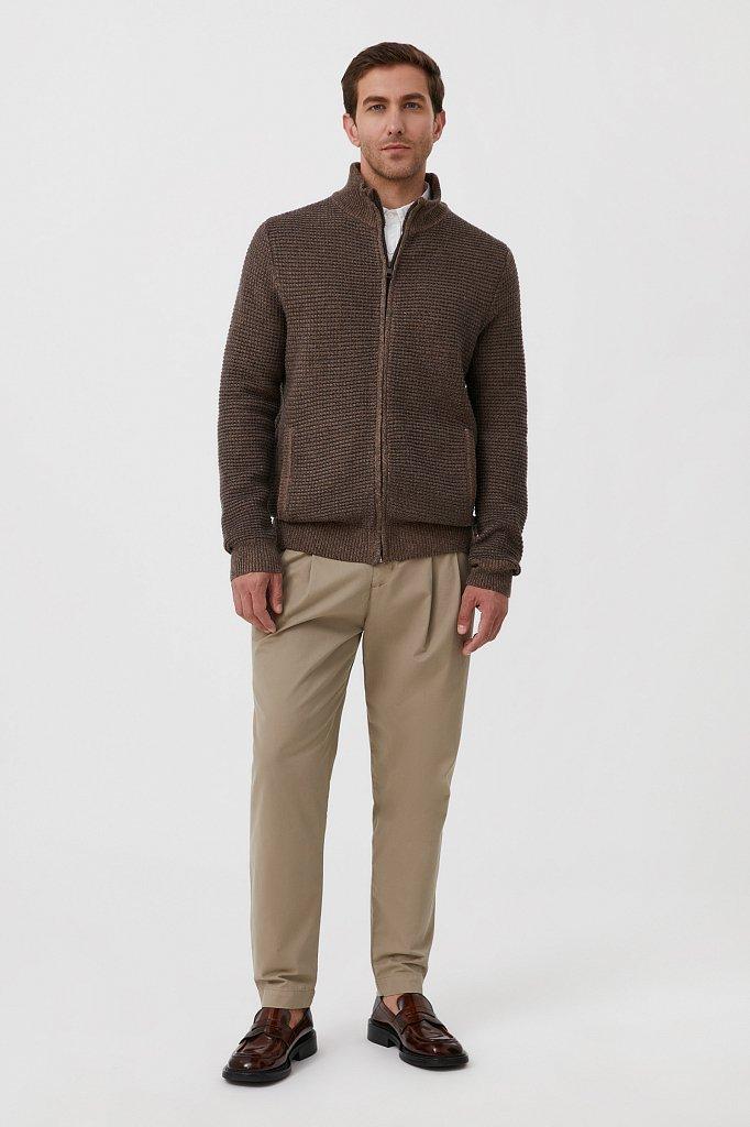 Жакет мужской крупной вязки с шерстью, Модель FAB21122, Фото №2