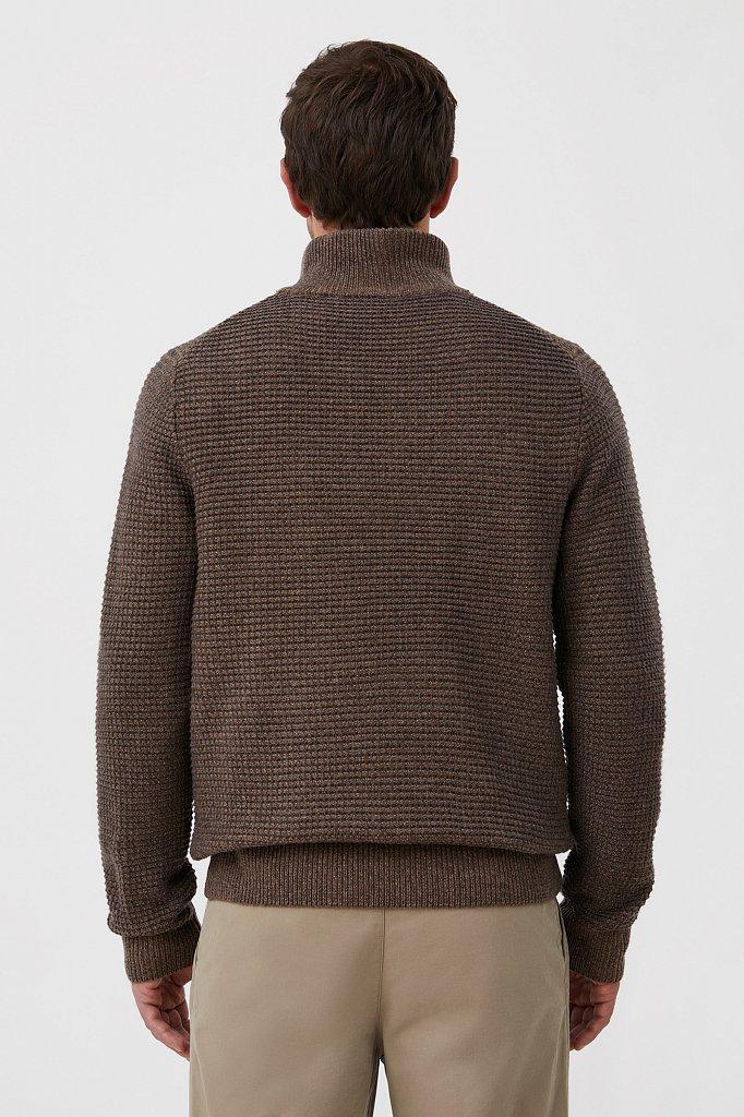 Жакет мужской крупной вязки с шерстью, Модель FAB21122, Фото №4