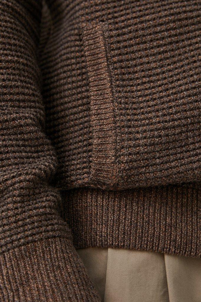 Жакет мужской крупной вязки с шерстью, Модель FAB21122, Фото №5