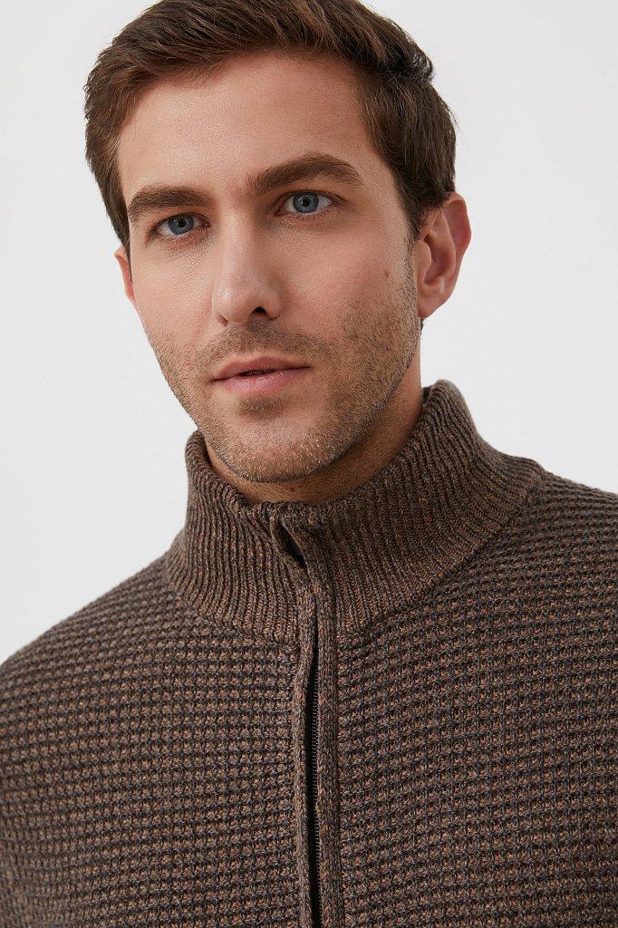 Жакет мужской крупной вязки с шерстью, Модель FAB21122, Фото №6