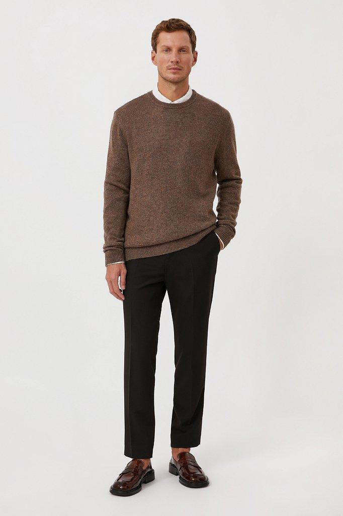 Джемпер мужской из мягкой смесовой ткани с шерстью, Модель FAB21140, Фото №2