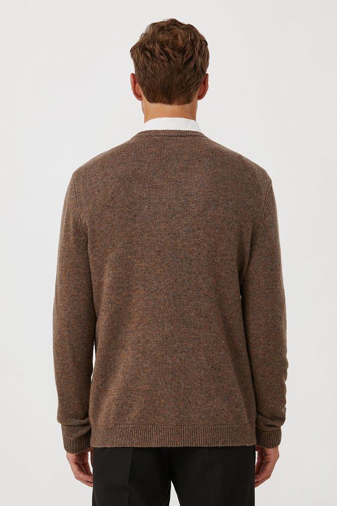 Джемпер мужской из мягкой смесовой ткани с шерстью, Модель FAB21140, Фото №4