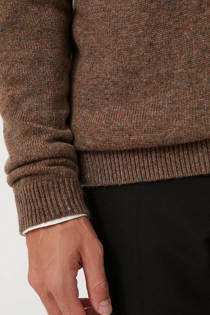 Джемпер мужской из мягкой смесовой ткани с шерстью, Модель FAB21140, Фото №5