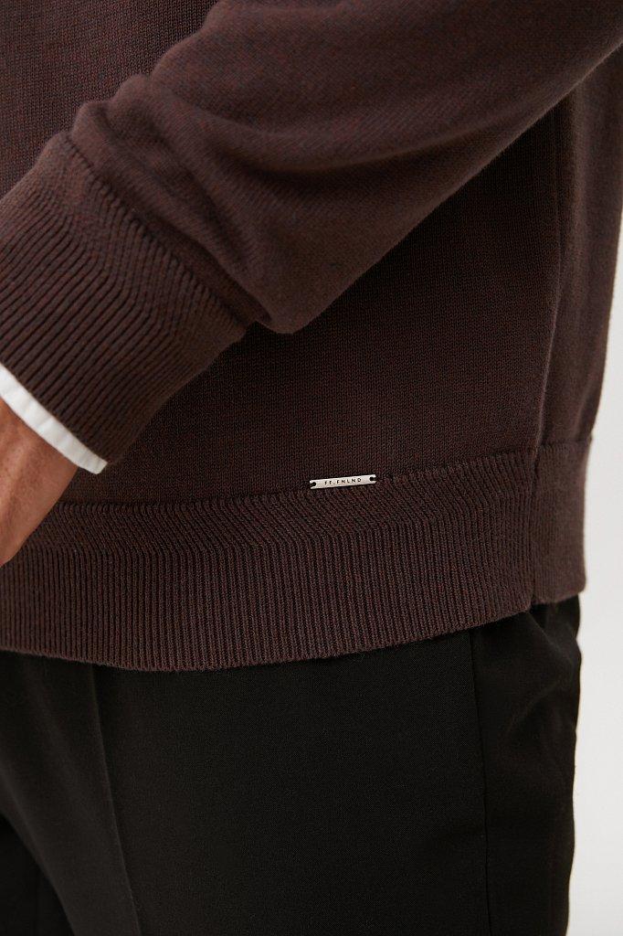 Трикотажный мужской джемпер прямого силуэта, Модель FAB21118, Фото №3