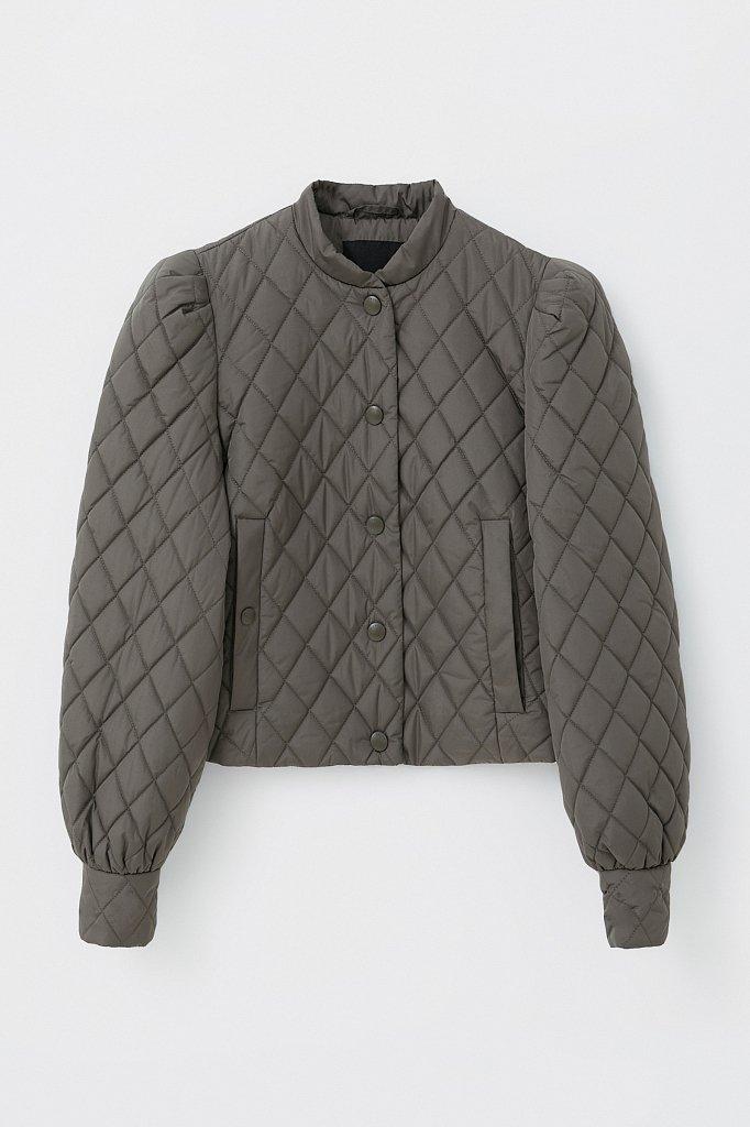Стеганая женская куртка с объемными рукавами, Модель FAB110136, Фото №7