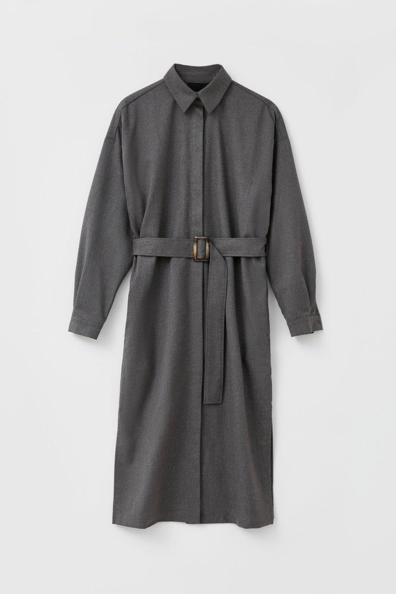 Платье-рубашка женское из мягкой смесовой ткани, Модель FAB11036, Фото №7