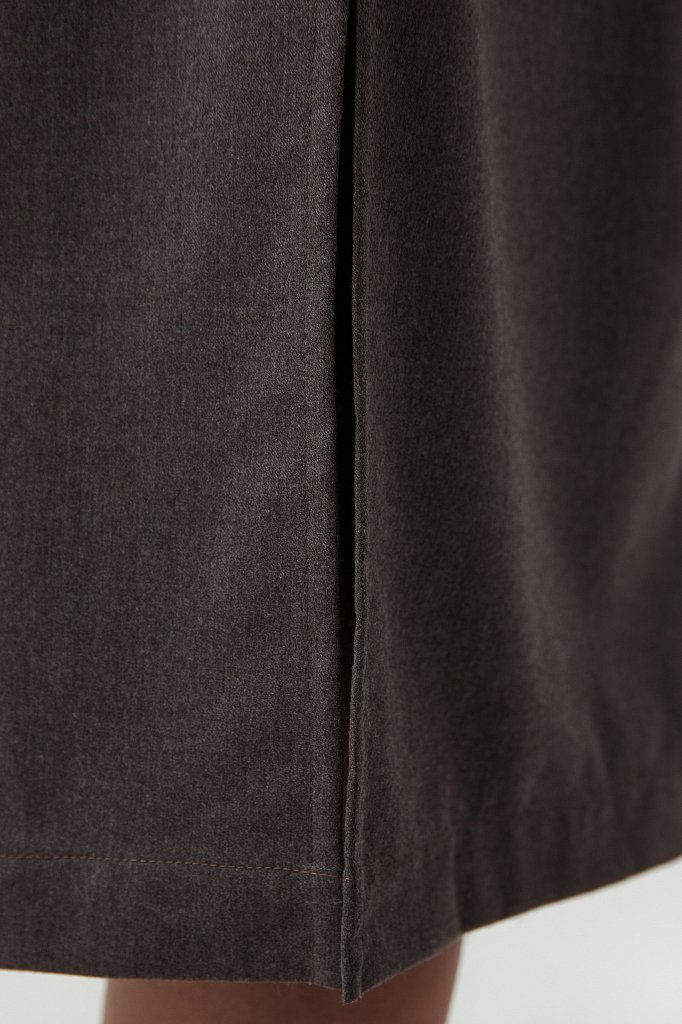 Платье-рубашка женское из мягкой смесовой ткани, Модель FAB11036, Фото №5