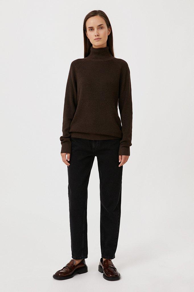 Женский свитер прямого силуэта с шерстью, Модель FAB11172, Фото №2