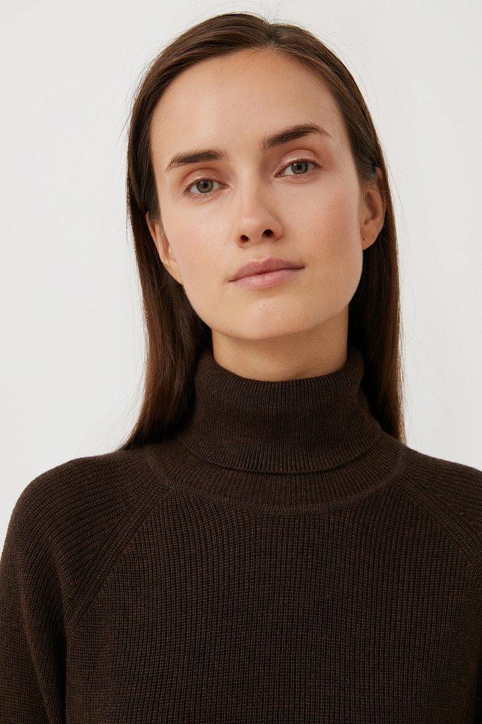 Женский свитер прямого силуэта с шерстью, Модель FAB11172, Фото №6