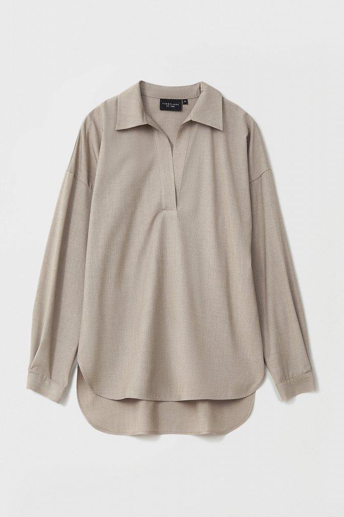 Блузка свободного кроя с удлиненной спинкой, Модель FAB110134R, Фото №7