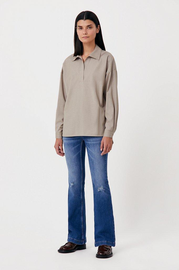 Блузка свободного кроя с удлиненной спинкой, Модель FAB110134R, Фото №2