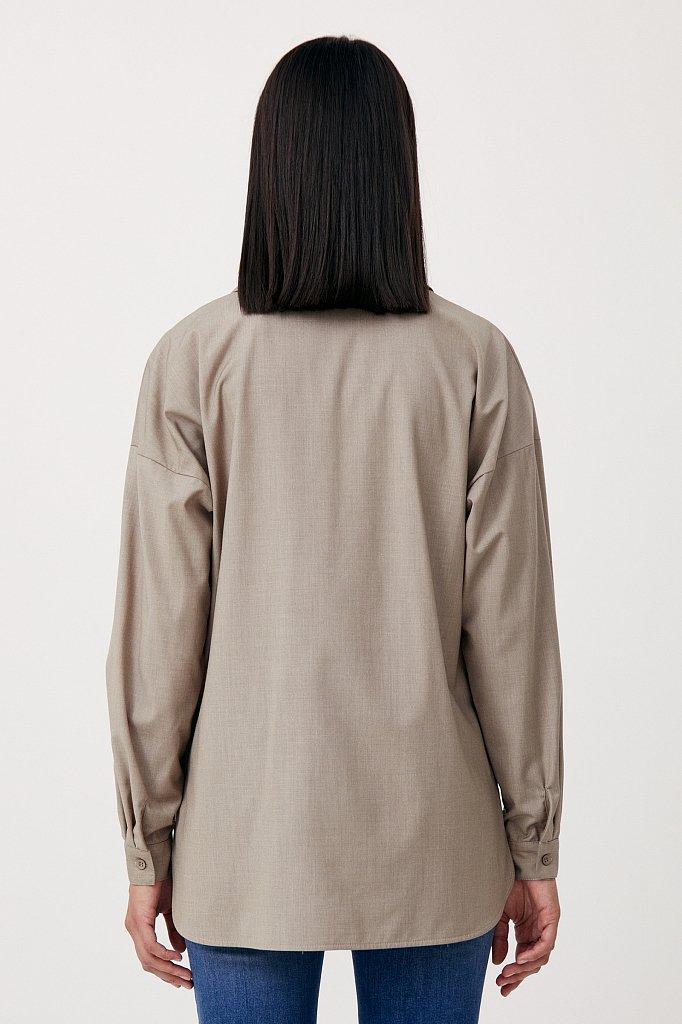 Блузка свободного кроя с удлиненной спинкой, Модель FAB110134R, Фото №4