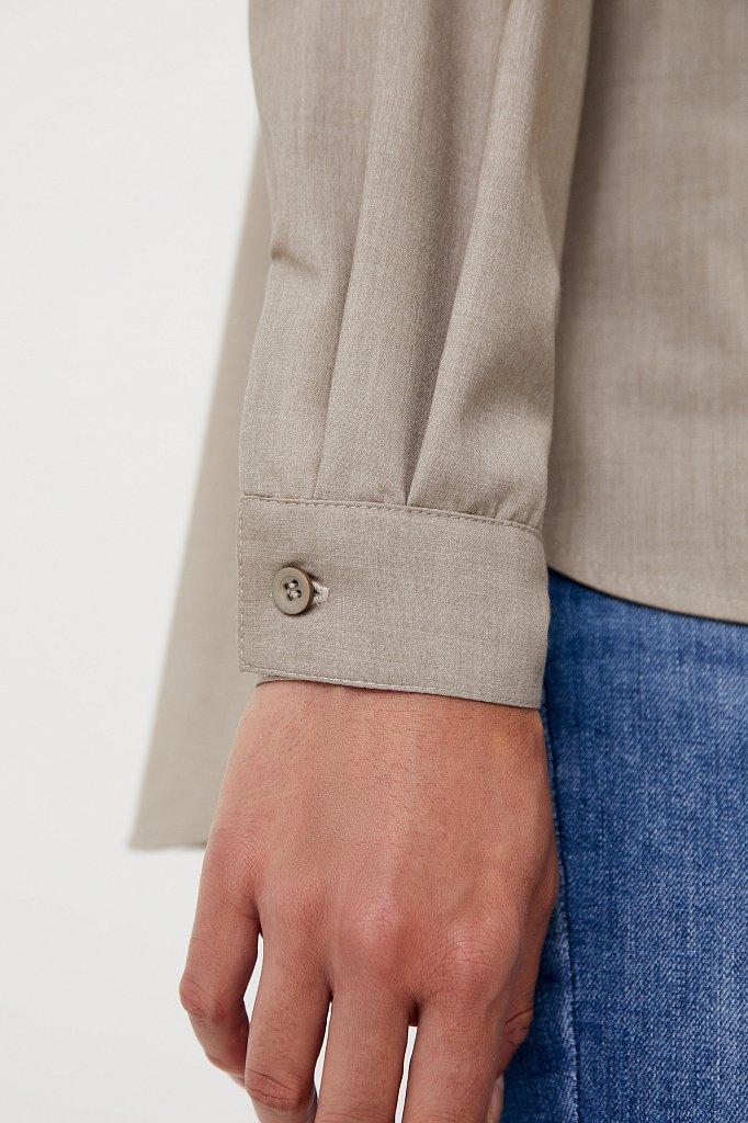 Блузка свободного кроя с удлиненной спинкой, Модель FAB110134R, Фото №5