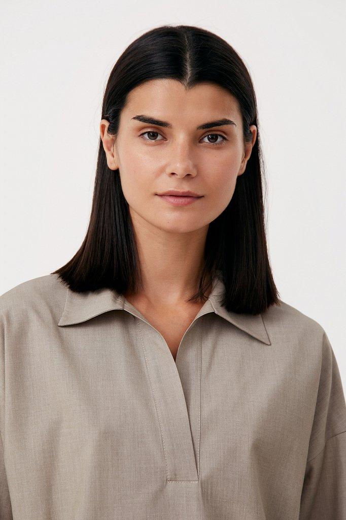 Блузка свободного кроя с удлиненной спинкой, Модель FAB110134R, Фото №6