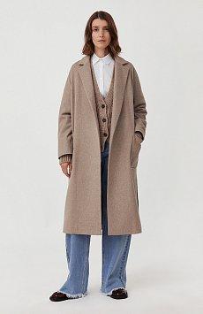 Оверсайз пальто женское с шерстью FAB11090