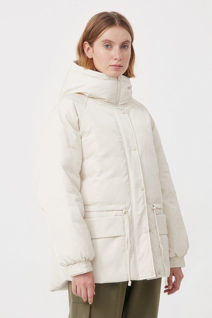 Пуховик женский свободного кроя, Модель FAB110104, Фото №4