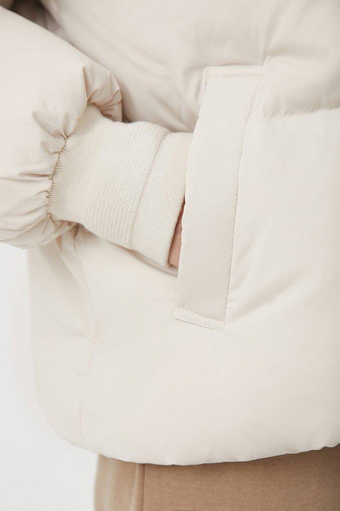 Пуховик женский прямого силуэта, Модель FAB110108, Фото №6