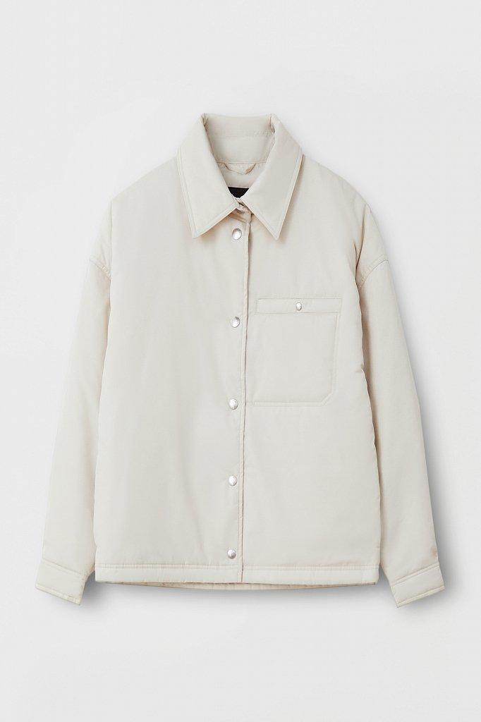 Утепленная женская куртка свободного кроя, Модель FAB110194, Фото №8