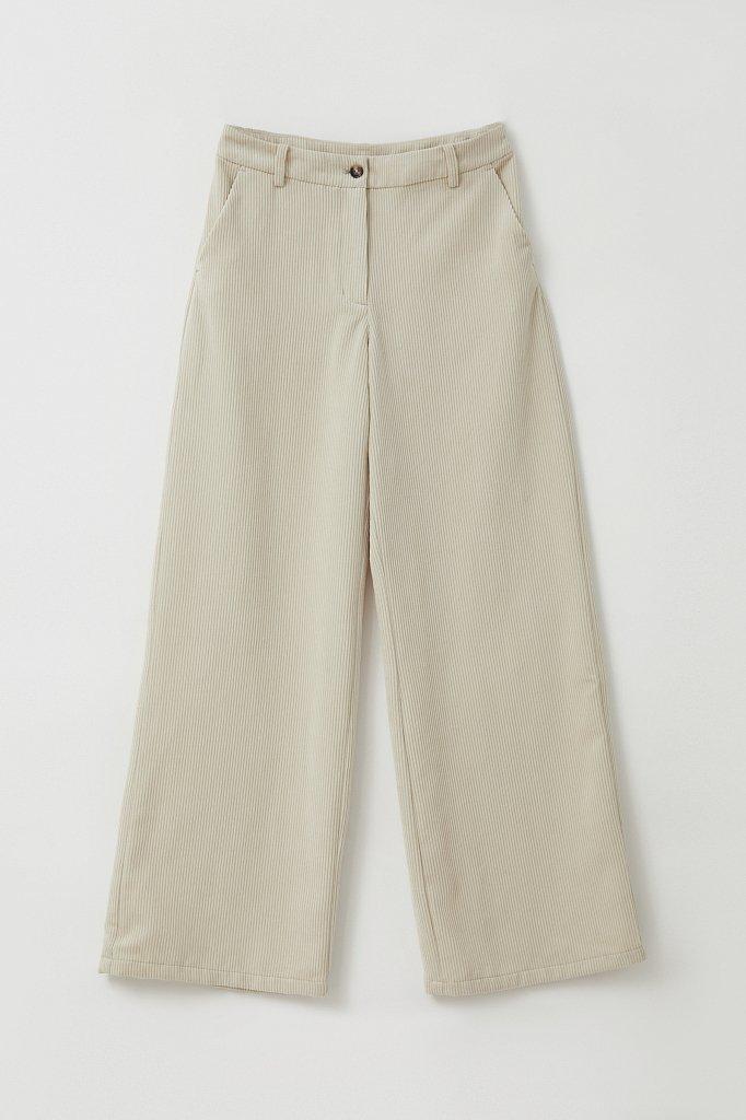 Свободные женские брюки wide leg из вельвета, Модель FAB11056, Фото №6
