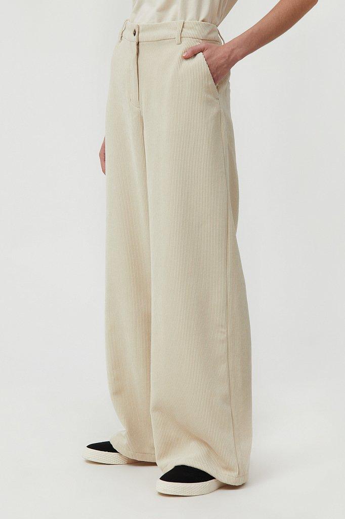 Свободные женские брюки wide leg из вельвета, Модель FAB11056, Фото №3