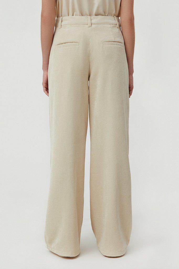 Свободные женские брюки wide leg из вельвета, Модель FAB11056, Фото №4
