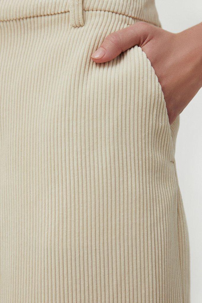 Свободные женские брюки wide leg из вельвета, Модель FAB11056, Фото №5