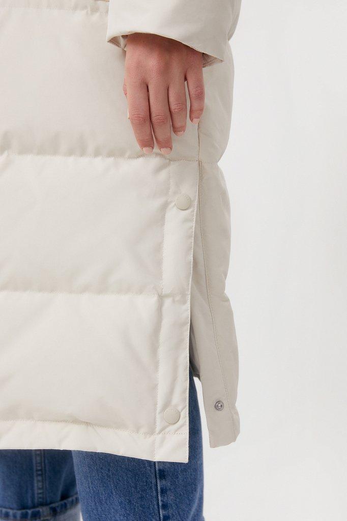 Пуховое женское пальто свободного кроя, Модель FAB11086, Фото №5