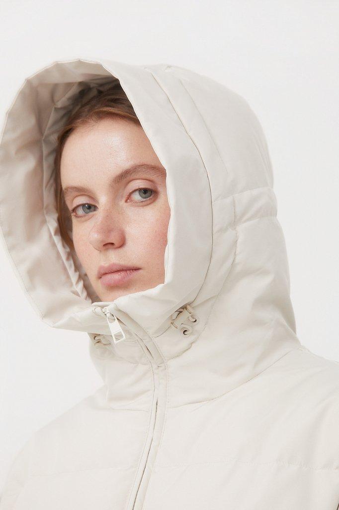 Пуховое женское пальто свободного кроя, Модель FAB11086, Фото №6