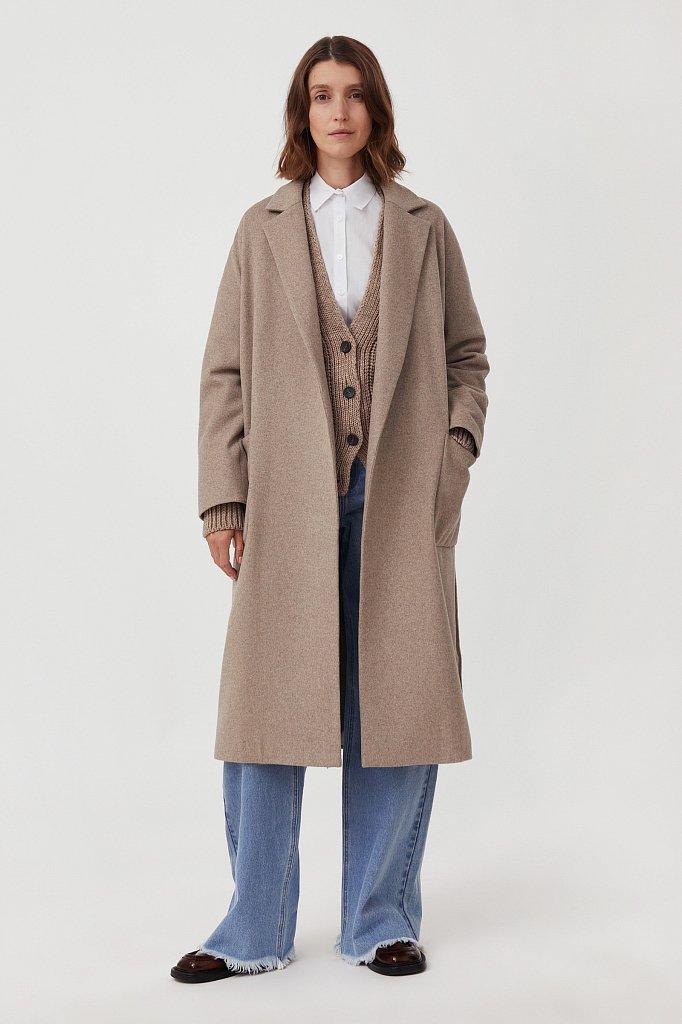 Оверсайз пальто женское с шерстью, Модель FAB11090, Фото №1