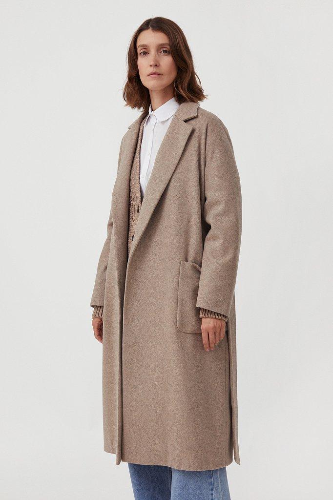 Оверсайз пальто женское с шерстью, Модель FAB11090, Фото №3