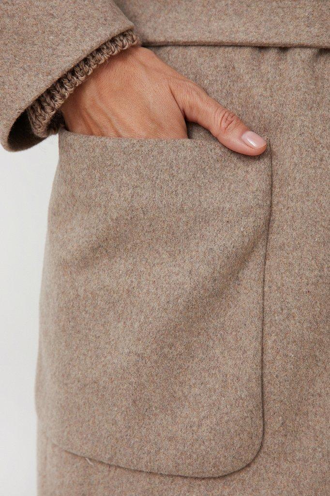 Оверсайз пальто женское с шерстью, Модель FAB11090, Фото №5