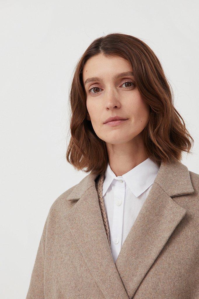 Оверсайз пальто женское с шерстью, Модель FAB11090, Фото №6