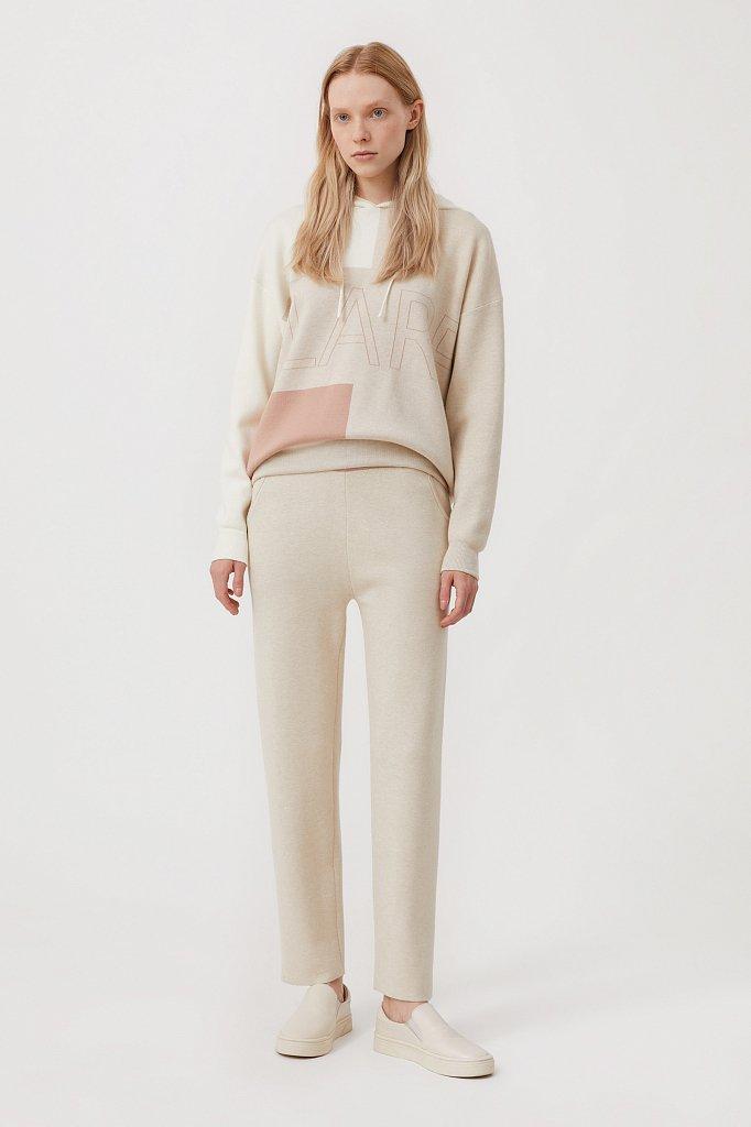Свободное женское худи в стиле color block, Модель FAB11183, Фото №2