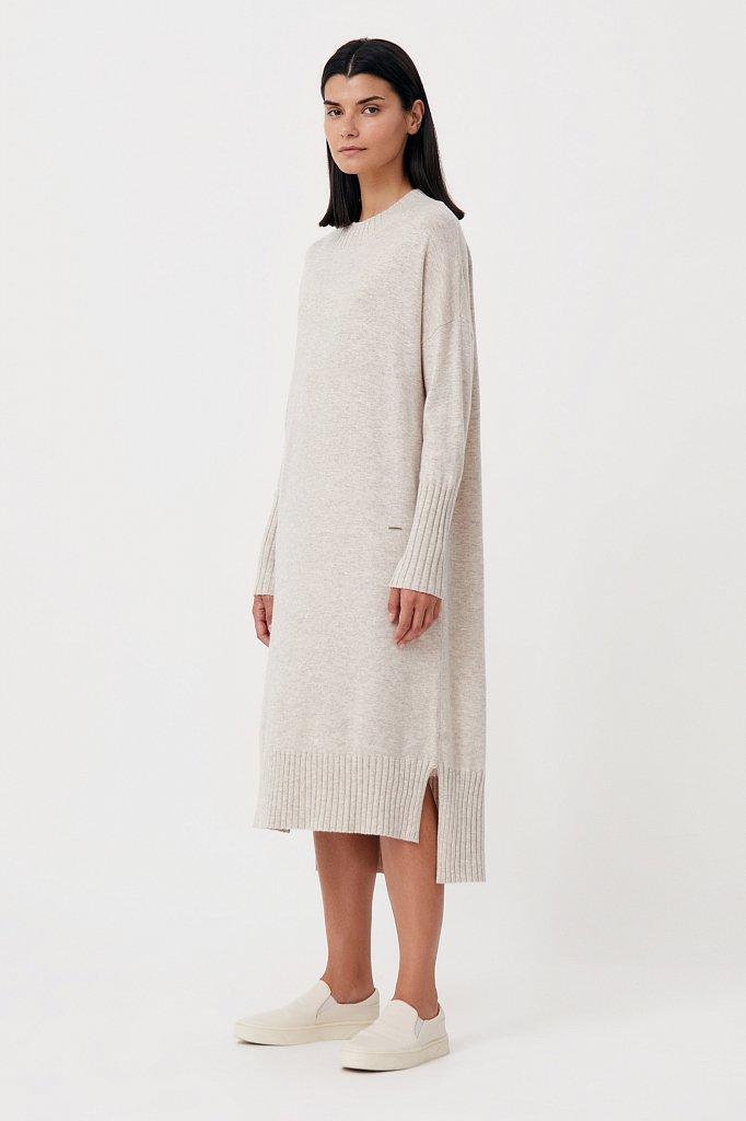 Женское трикотажное платье из шерсти и кашемира, Модель FAB11191, Фото №3