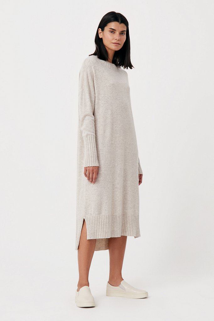 Женское трикотажное платье из шерсти и кашемира, Модель FAB11191, Фото №4