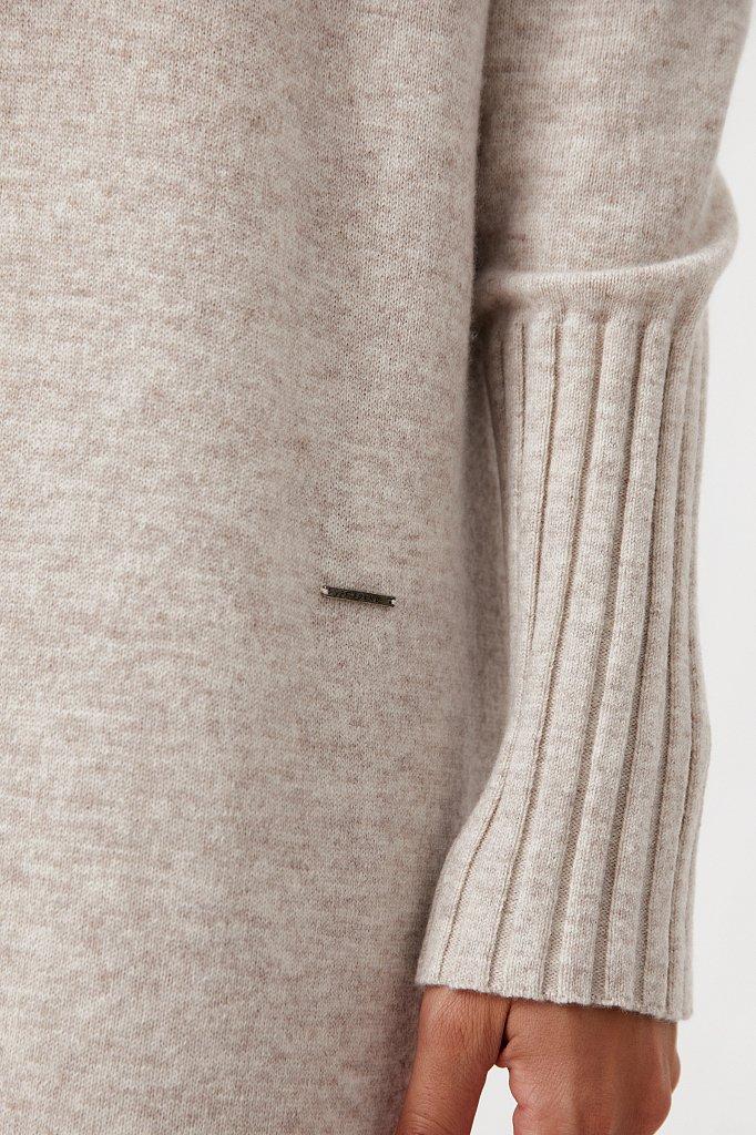 Женское трикотажное платье из шерсти и кашемира, Модель FAB11191, Фото №6